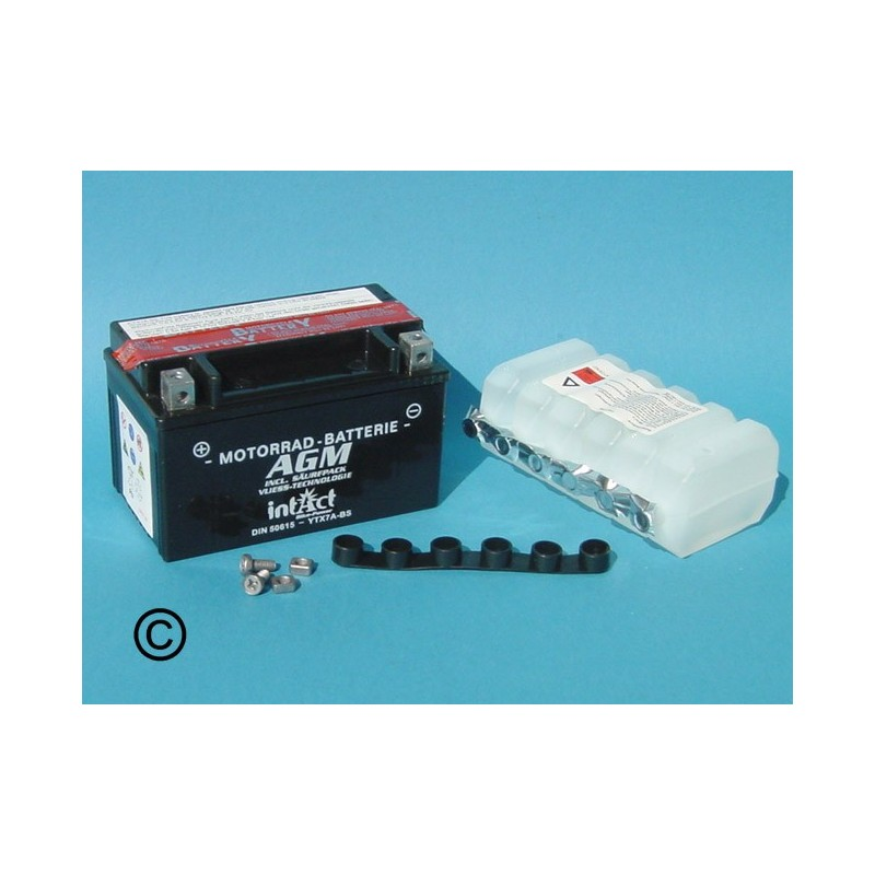 Batterie au plomb acide agm 50615 ytx7a bs - Acide de batterie ...