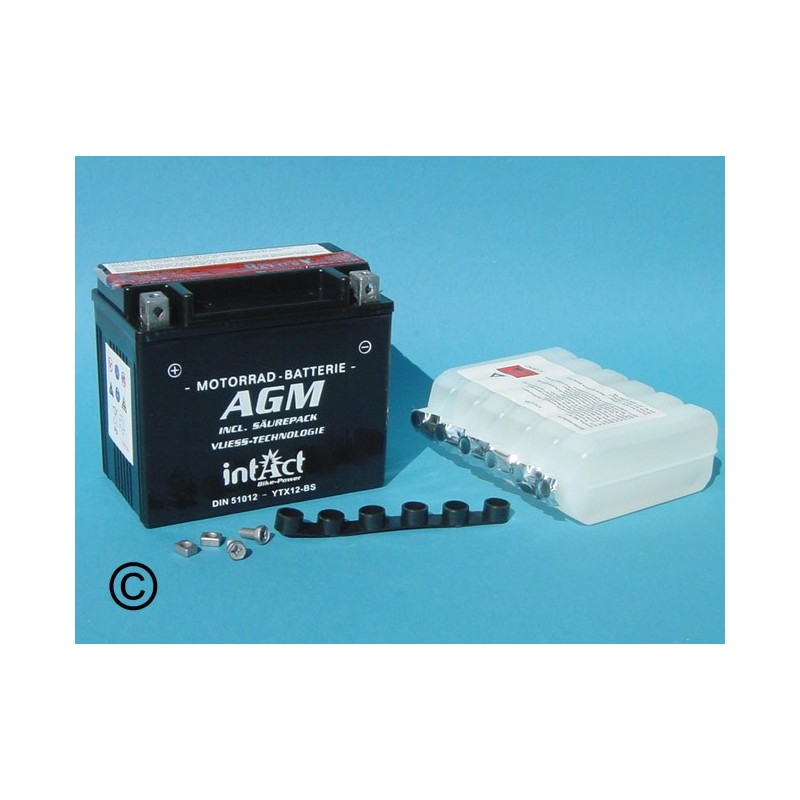Batterie au plomb acide agm 51012 ytx12 bs - Acide de batterie ...