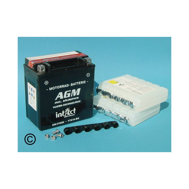 Batterie au plomb acide agm 81600 ytx16 bs - Acide de batterie ...